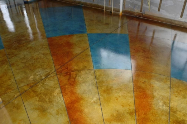 dye concrete