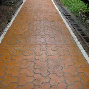 Stenciled Concrete Project 13