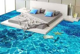 3D epoxy floor for bedroom