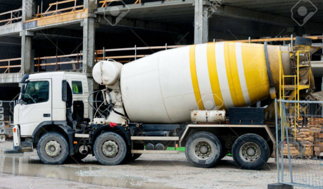 on site mixer truck
